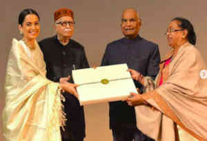 तस्वीरें: राष्ट्रपति रामनाथ कोविंद ने देखी कंगना की 'मणिकर्णिका', दी पूरी टीम को शुभकामनाएं
