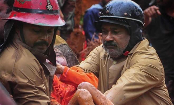 केरल में भारी बारिश से भूस्खलन आैर बाढ़,24 घंटे में 26 की मौत