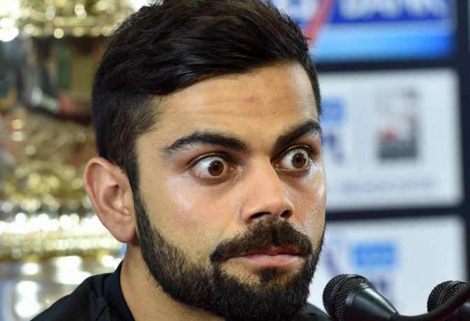 विराट कोहली का मैच देखने स्टेडियम पहुंचे 'किम-जोंग उन और डोनाल्ड ट्रंप', बैठे दिखे साथ-साथ