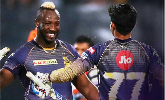 ipl 2019 : srh vs kkr मैच में कोलकाता को मिली रोमांचक जीत,रसेल ने छुड़ाए छक्के