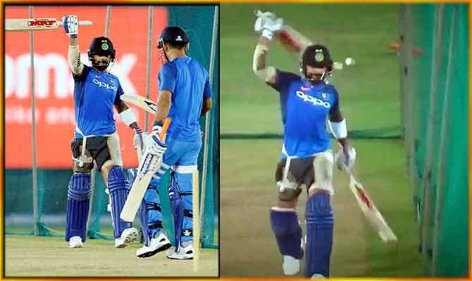 जब धोनी के सामने विराट कोहली ने गेंद के बिना ही मारे हेलीकॉप्टर शॉट!