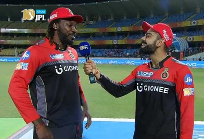 मैच खत्म होने के बाद रिपोर्टर बन गए विराट कोहली