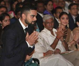 कोहली को मिले खेल रत्न पुरस्कार की तस्वीरों में अनुष्का को नहीं देखा तो क्या देखा