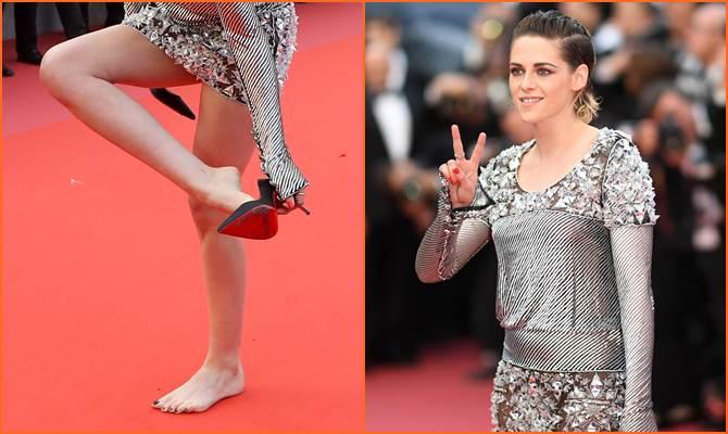 Twilight एक्ट्रेस क्रिस्टीन स्टीवर्ट ने हाई हील उतारकर कांस के रेड कारपेट किया वॉक, वजह कर देगी हैरान
