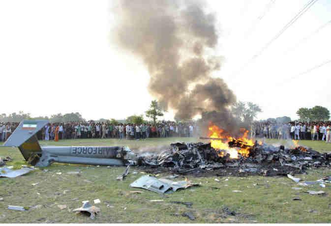 IAF का मिग-27 लड़ाकू विमान हुआ क्रैश,  पायलट सुरक्षित