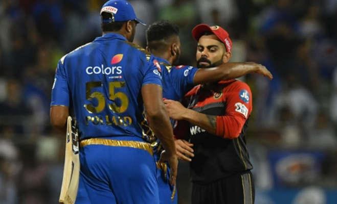 ipl 2019 : कोहली फिर हुए फेल,mi ने rcb को पांच विकेट से हराया