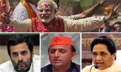 UP Election results 2017: यूपी में मोदी मैजिक के बाद राहुल ने दी बधाई तो अखिलेश ने कहा बहकावे में 'लोकतंत्र', माया की मांग चुनाव हो रद