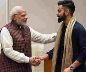 नरेंद्र मोदी को इंग्लैंड से विराट कोहली ने दी बधाई, इन 5 भारतीय क्रिकेटरों ने भी PM को बोला congrats