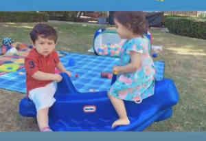 तैमूर फिर नजर आए पार्क में कायनात के साथ प्ले डेटिंग करते, यहां देखें ये क्यूट वीडियो