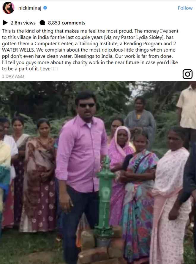 अमेरिकी रॉक सिंगर निकी मिनाज ने चुपचाप बदल डाली भारत के इस गांव की तस्वीर