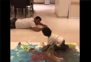बॉलीवुड के फेमस मामा-भांजे सलमान और आहिल ने मिल कर की पेंटिंग, यहां देखें अंत में क्या बना