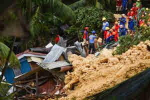 फिलीपींस में लैंड स्लाइड, चार लोगों की मौत और दर्जनों फंसे