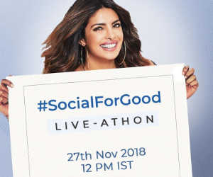 प्रियंका चोपड़ा ने फेसबुक से मिलाया हाथ, #SocialForGood के साथ यूं करेंगी सबको जागरुक