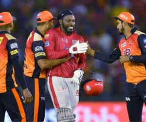 IPL 2018 : गेल के तूफानी शतक की बदौलत पंजाब ने हैदराबाद को 15 रन से हराया