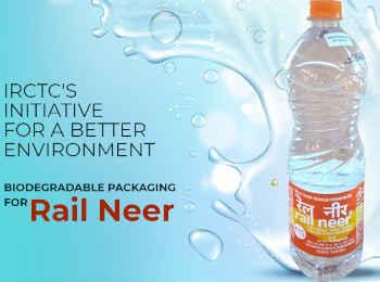 बायोडिग्रेडेबल बोतल में पानी पिलाएगा IRCTC, प्लास्टिक बैन के बाद नई पहल