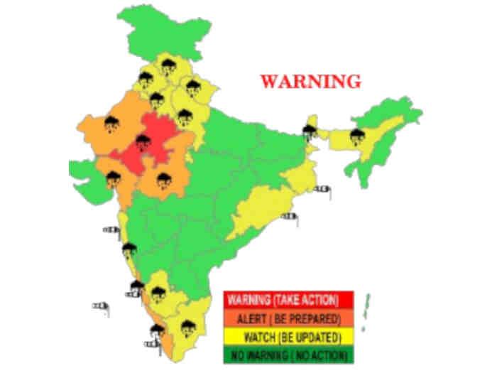 मौसम : राजस्थान में भारी बारिश,स्वतंत्रता दिवस पर दिल्ली में भी हो सकती है बौछार