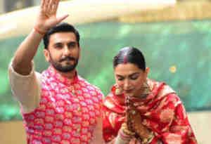 शादी के बाद गणपति का आशीर्वाद लेने पहुंचे दीपिका और रणवीर