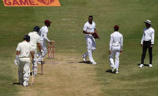 मैदान में भिड़े इंग्लैंड आैर विंडीज के खिलाड़ी,गैबरियल ने कुछ एेसा कह दिया कि रूट नहीं बता पा रहे सबको