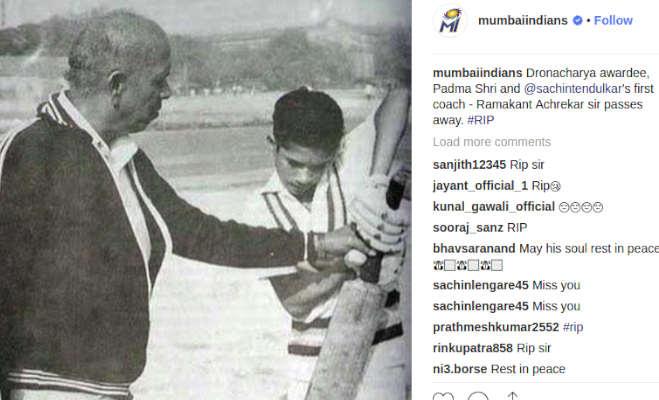 सचिन तेंदुलकर के गुरु रमाकांत आचरेकर नहीं रहे,तस्वीर में देखिए उन्होंने कैसे दी थी सचिन को ट्रेनिंग