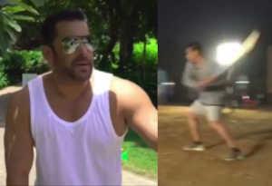 सलमान खान ने 'भारत' के सेट पर खेला क्रिकेट, गजब बल्ला घुमाया और लगा दिए चौके-छक्के