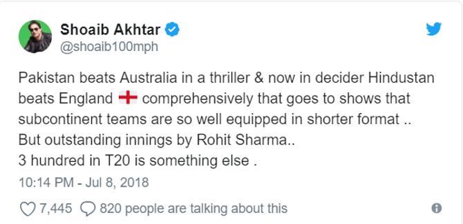 रोहित शर्मा की तारीफ करके बुरे फंसे शोएब अख्तर,क्या क्या सुनने को मिल रहा!