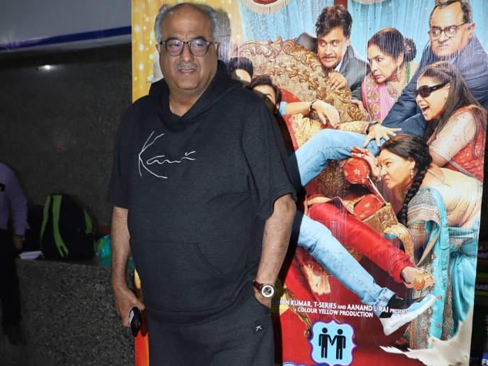 shubh mangal zyada saavdhan: पत्नी और भाई संग आयुष्मान पहुंचे फिल्म स्क्रीनिंग पर,उर्वशी का दिखा ग्लैमरस अंदाज