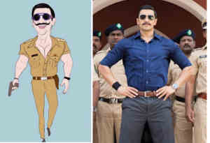 रणवीर सिंह ने खुद का 'सिंबा' कार्टून लुक पोस्ट कर कही ये बात, देख कर हंस पड़ेंगे आप