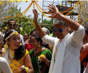 28 साल छोटी गर्लफ्रेंड से आज शादी करेंगे मिलिंद सोमन, सामने आई मेहंदी की तस्वीर