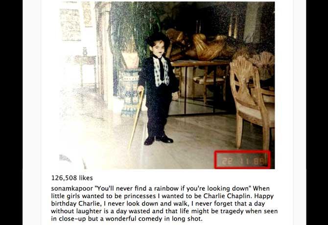 सोनम कपूर की सबसे बड़ी ख्वाइश तब हुई पूरी,जब वो बनीं चार्ली चैपलिन