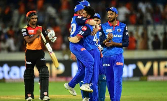 ipl 2019 : हैदराबाद ने 15 रन के भीतर गंवाए 8 विकेट,दिल्ली को मिली 39 रन से जीत