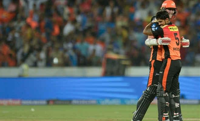 ipl 2018 : आखिरी गेंद पर एक विकेट से हैदराबाद ने जीता मैच,मुंबई इंडियंस को फिर मिली हार