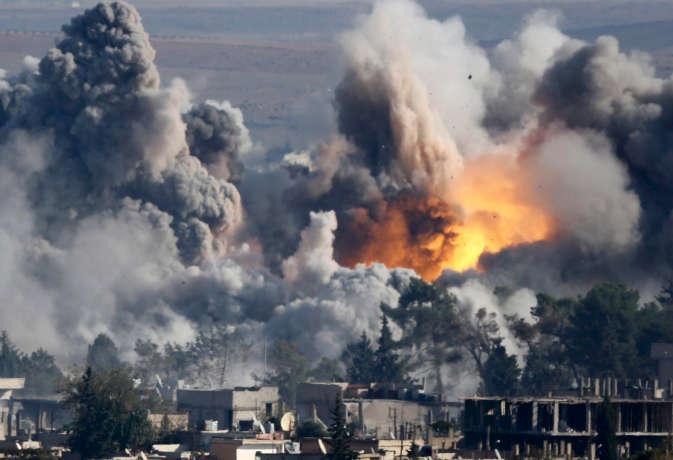 सीरिया में हवाई हमला, 68 लोगों की मौत और कई गंभीर रूप से घायल