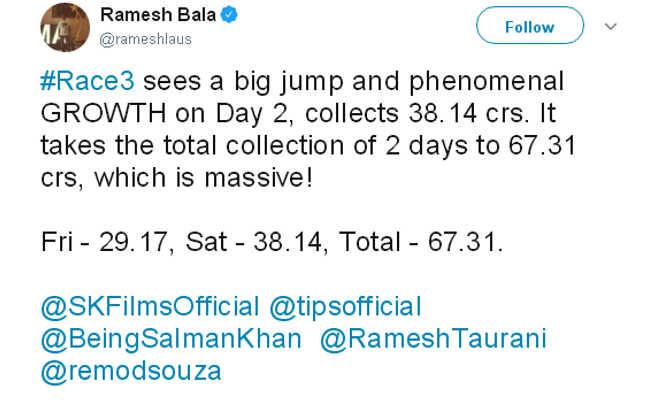 रेस 3 बनी साल की टॉप ओपनर,ईद पर सलमान ने फिल्म की सक्सेज के साथ सेलीब्रेट किए ये तीन बडे़ जश्न
