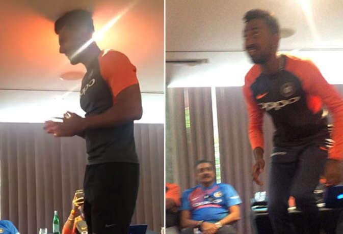 टीम इंडिया में शामिल नए खिलाड़ी को कुर्सी में खड़ा करके ली जाती है रैगिंग, सामने आई तस्वीर