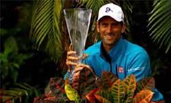 टेनिस: कई दिग्गजों को पीछे छोड़ जोकोविच ने छठी बार जीता मियामी ओपन खिताब