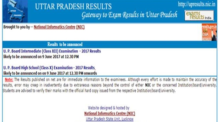 Result Out UP Board 10th (उत्तर प्रदेश 10वीं बोर्ड नतीजे) Class result 2017: Result to be declared on June 9th, 2017 at 12.30 pm, at upresults.nic.in