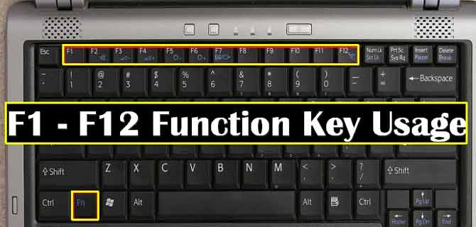 f1 से f12,क्या होता है इन keys का इस्तेमाल