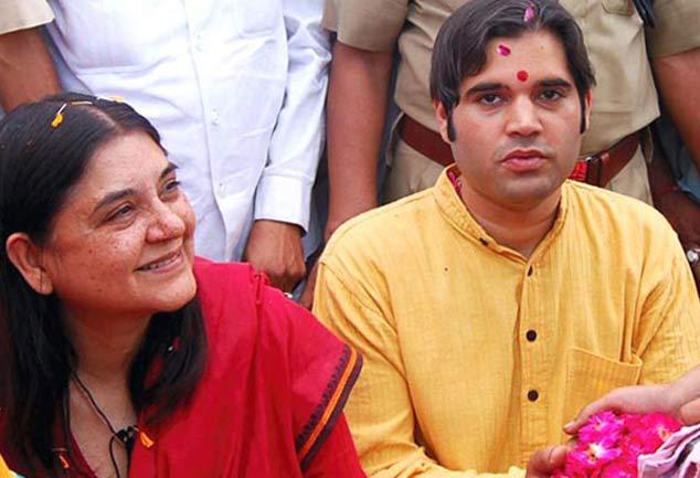 Image result for मेनका गांधी वरुण