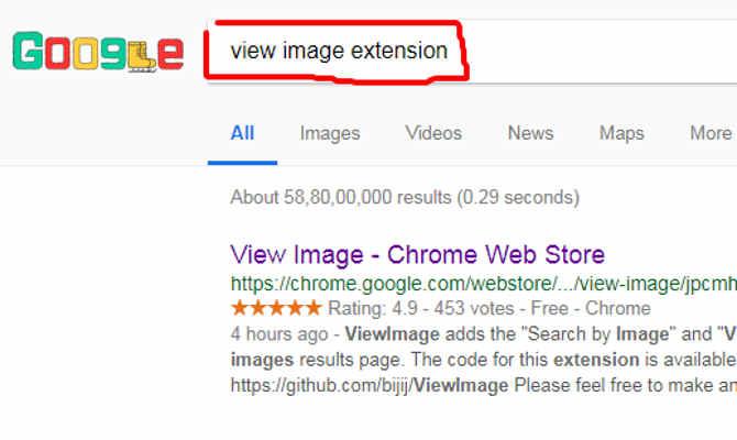 गूगल ने इमेज सर्च में हटाया था view image फीचर,तो इस chrome एक्टेंशन ने निकाल लिया उसका तोड़,ऐसे करेंगे यूज