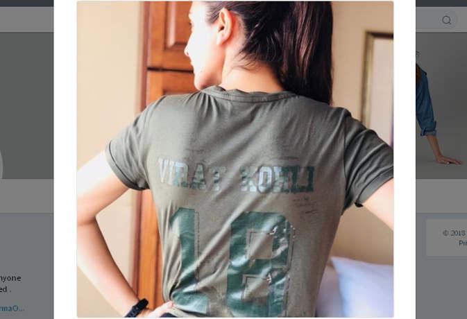कोहली की 18 नंबर जर्सी पहने ये कहां चली गईं अनुष्का, विराट को भी 4 घंटे बाद पता चला
