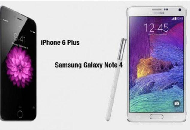 आईफोन 6 प्लस या गैलेक्सी नोट 4, कौन है बेहतर?
