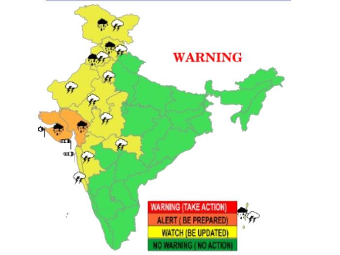 weather alert in gujarat and jammu kashmir गुजरात और जम्मू-कश्मीर में भारी बारिश