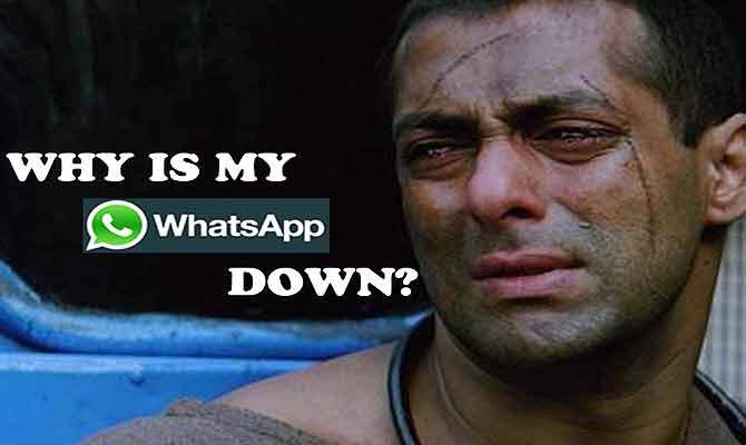 #Whatsappdown क्या हुआ लोगों ने बट्टी लगाकर इसकी कर डाली धुलाई, खुद देखिए