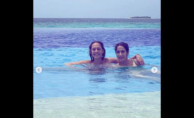 भारतीय क्रिकेटरों की पत्नियों की बिकिनी तस्वीर हुई वायरल,मालदीव में मनाने गए थे छुट्टियां